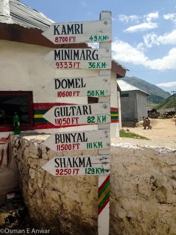 2) Signpost at Chilam